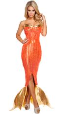 Seductive Ocean Siren Costume
