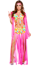 Foxy Flower Child Costume