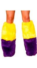 Two Tone Furry Legwarmers
