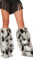 Faux Feather Look Legwarmers