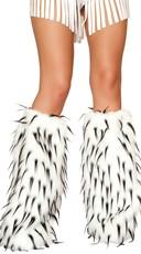 Two Tone Furry Leg Warmers