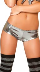 Dotted Gunmetal Pucker Back Short