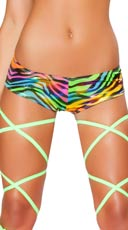 Rainbow Zebra Pucker Back Short