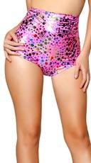 Rainbow Polka Dot High Waisted Shorts