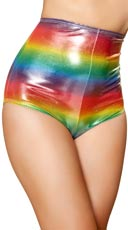 Rainbow High Waisted Shorts