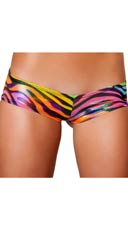Rainbow Zebra Low Rise Short