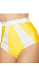 Yellow and White High Waisted Pinup Shorts
