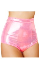 Hot Pink Metallic High Waisted Shorts