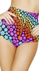Neon Daisy High Waisted Pinup Shorts