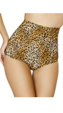 Leopard High Waisted Pinup Shorts