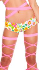 Floral Low Rise Shorts