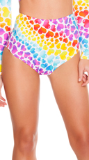 Neon Hearts High Waisted Shorts