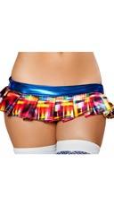 Electric Plaid Mini Skirt