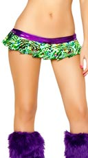 Electric Green Swirl Mini Skirt