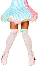 Pink and White Striped Stockings