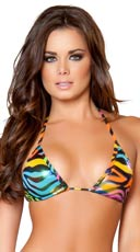 Rainbow Zebra Triangle Top
