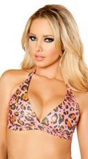 Pink Leopard Halter Top