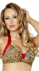 Leopard Pinup Halter Top