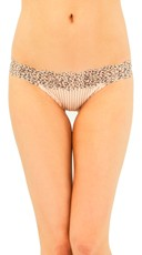 Nude Leopard Lace Thong