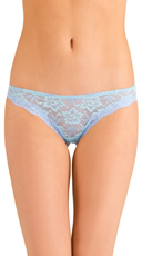 Blue Knockout Lace Thong