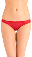 Red Love Triangle Thong