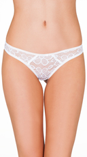 White Forever Floral Thong