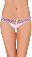 Pink and Purple Twisted Lace Thong