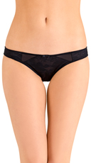 Black Love Triangle Bikini Panty