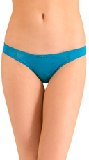 Teal Love Triangle Bikini Panty
