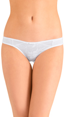 White Love Triangle Bikini Panty