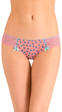 Pink Dot and Floral Print Stolen Kisses Hipster