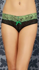 Green Into The Jungle Hipster Panty