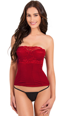 Red Meant To Be Seen Bustier