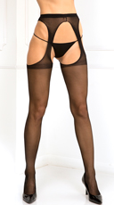 Mesh Suspender Thigh High Stockings