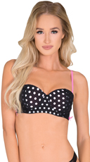 Black Laced Up Luvin Longline Bra