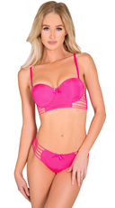 Pink Palm Springs Vibes Bra and Panty Set