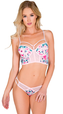 Pink One Liner Bra and Panty Set