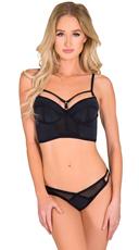 Black One Liner Bra and Panty Set