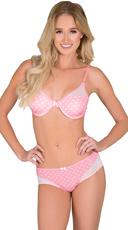 Pink Cutting Corners Bra and Panty Set