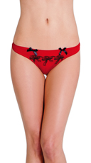 Red Bow Boudoir Thong