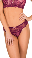 Maroon Double Scandal Thong