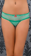 Aqua Ace Of Lace Thong