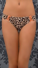 Leopard Tie Right Now Thong