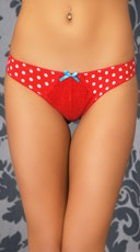 Retro Lady Dotted Thong