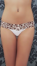 Top Rated White Cheetah Thong