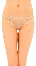 Sheer Delight Nude Thong