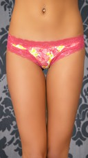 Spring Lovin' Floral Lace Thong