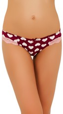 Heart Attack Pink Lace Thong