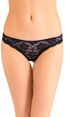 Black Knockout Lace Thong