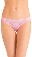 Pink Knockout Lace Thong